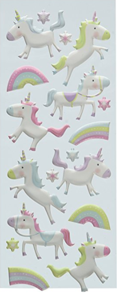 Unicorn Puffy Stickers