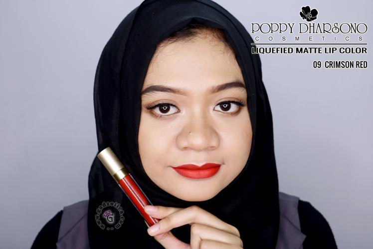Poppy Dharsono Liquefied Matte Lip Color Crimson Red