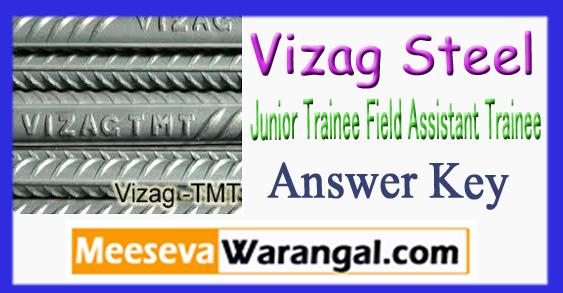 Vizag Steel Junior Trainee Field Assistant Trainee Exam Answer Key 2018