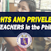 Teachers' Rights and Privileges in the Philippines