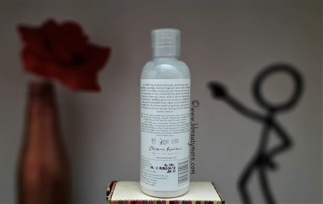 Light weight, non greasy, quick absorbing lotion with a beautiful mild floral scent that lingers on for a few moments leaving your skin soft, supple and well moisturized without the oily look. Aroma Magic Almond Moisturising Lotion has SPF 15 which protects your skin from UV rays, keeps it nourished and hydrated for all day, you only need a single application and you're good to go. Also it is paraben free, cruelty free, and pocket friendly too.