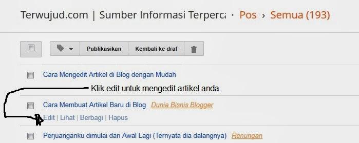 Mengedit Artikel di Blog dengan Mudah