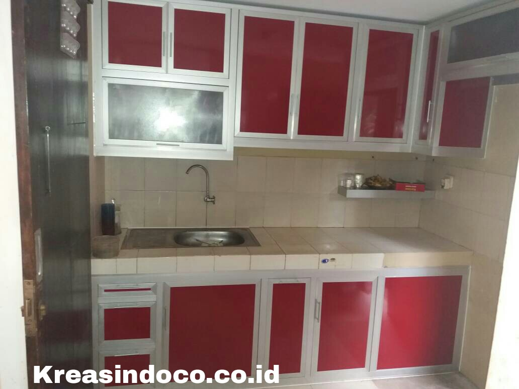 Kitchen Set Aluminium Pesanan Bu Adhe Di Royal Fountain Twon House
