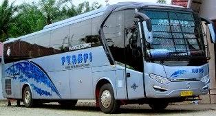 rute dan tarif bus rapi raja perdana inti jurusan Medan, rantau prapat, jambi, palembang, pekanbaru, duri, kerinci, air molek