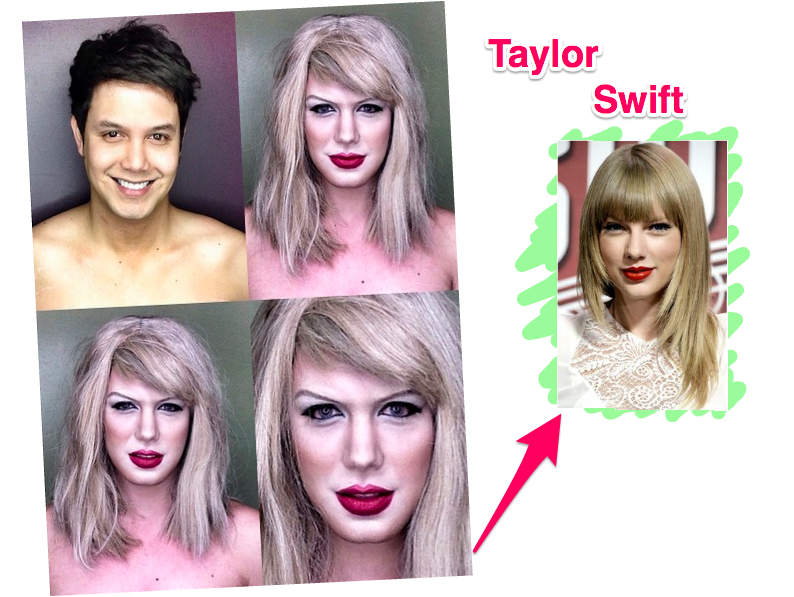 Maquiador se transforma na Taylor Swift
