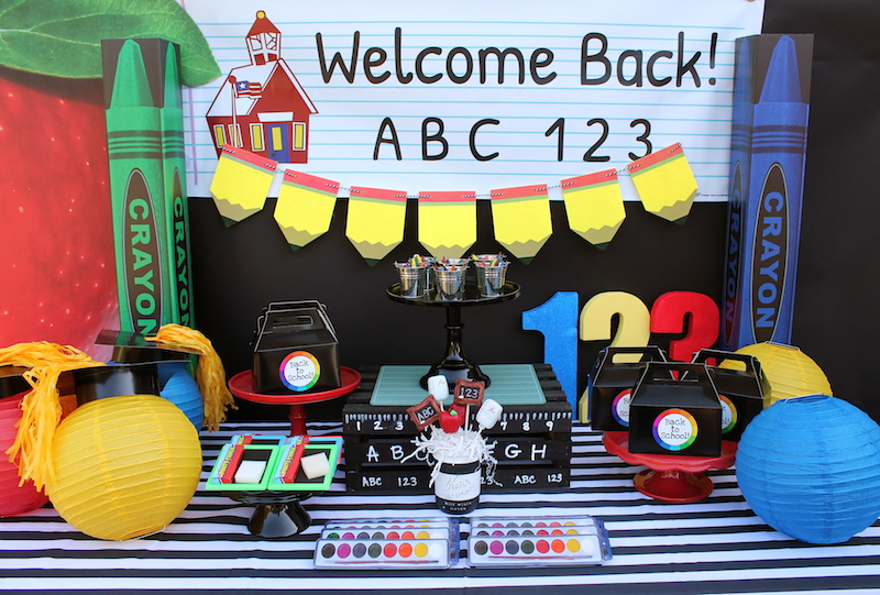 Back To School Party Ideas Shindigz Lauras Little Party