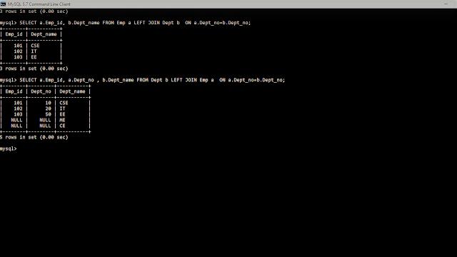 SQL; My SQL; SQL Joins