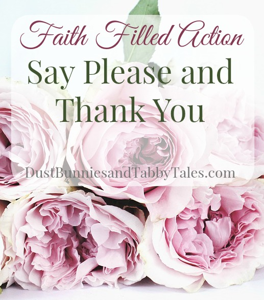 Faith Filled Action - Say Please and Thank You