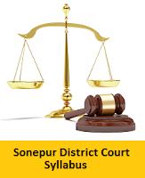 Sonepur District Court Junior Clerk Syllabus
