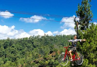 wisata bersepeda di udara