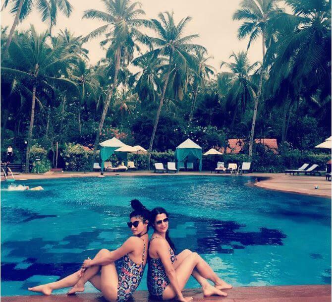 Mouni Roy with Jasmin Bhasin