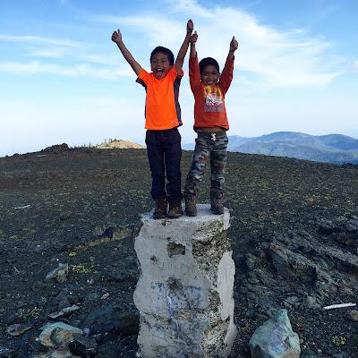 West Summit Monument on Snow Mountain