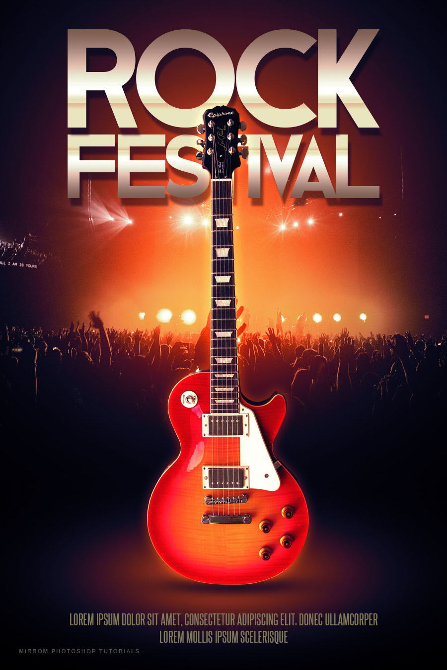 Create a Rock Festival Poster Design in Photoshop