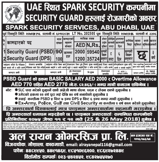 Jobs in UAE for Nepali, Salary Rs 82,463
