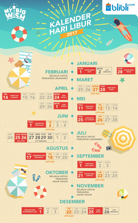 Jadwal Hari Libur 2017 dan jadwal cuti 2017