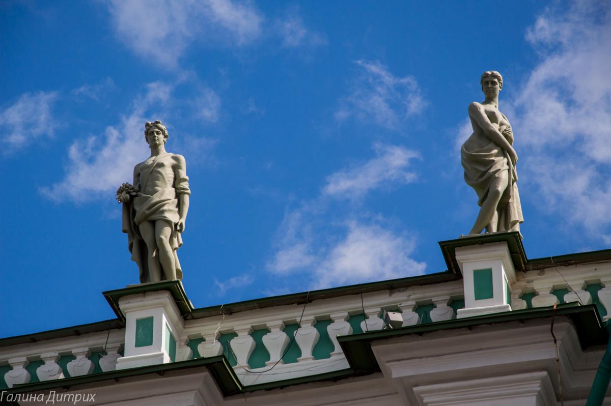 Детали Зимнего дворца фото