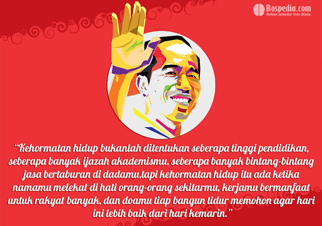 Kartu kata kata Kemerdekaan Presiden Joko Widodo
