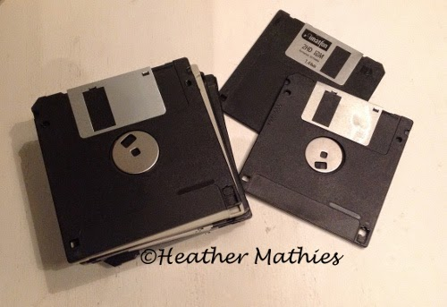 Eclectic Red Barn: 3 1/2 floppy disk