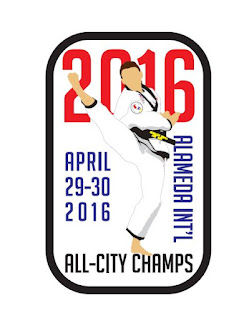 The patch for the 2016 Denver All-City Champs martial arts tournament