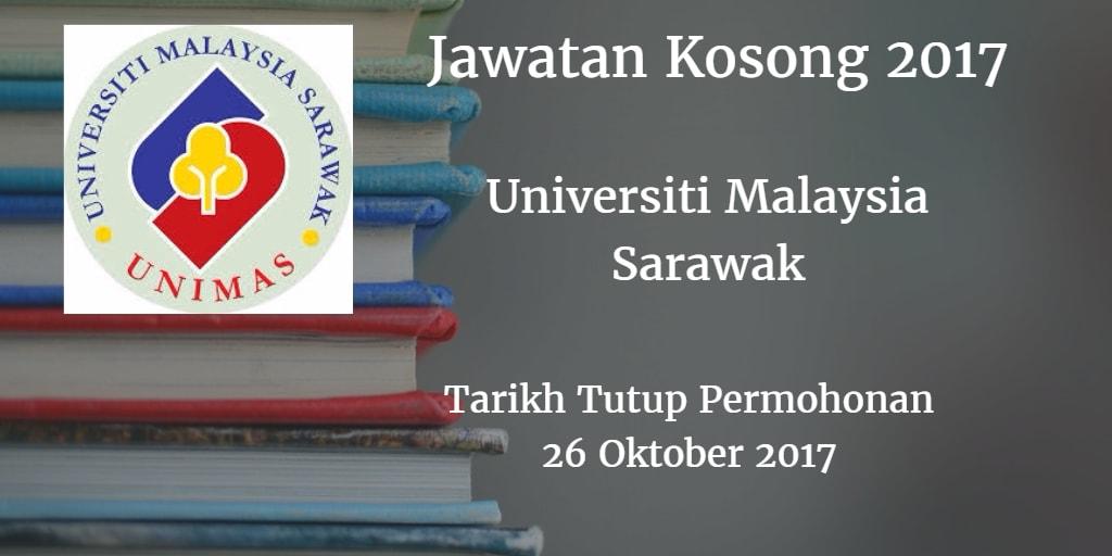Jawatan Kosong UNIMAS 26 Oktober 2017