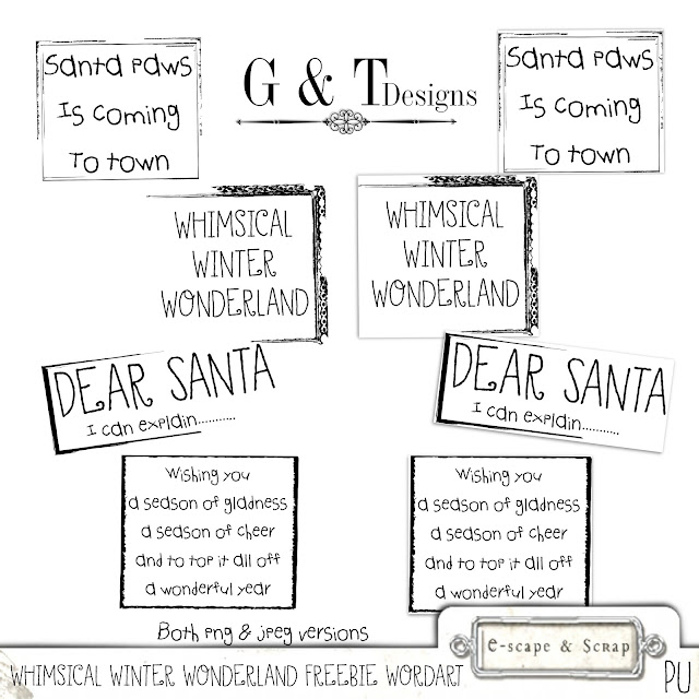 G&T Designs - Christmas Goodies & Freebies