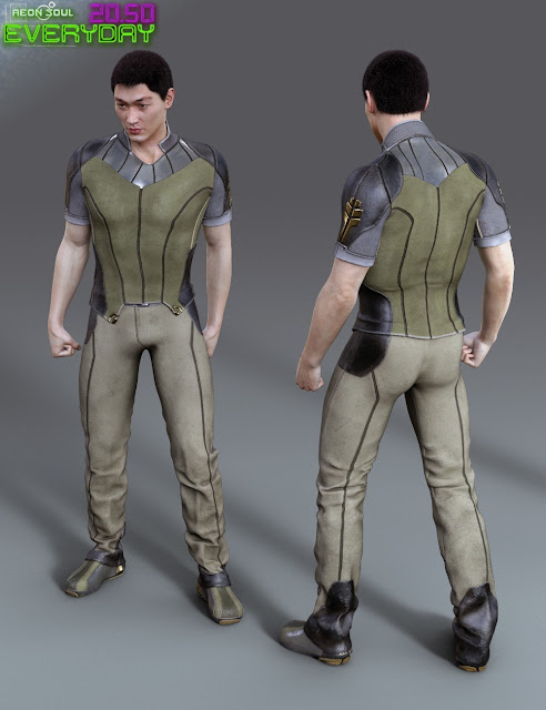 20.50 Cyberpunk Everyday Clothes for Genesis 3 Male