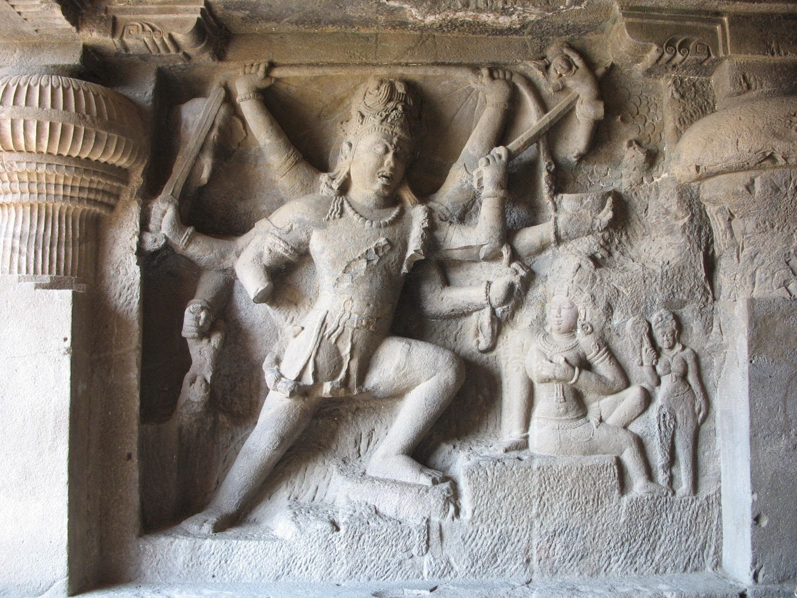 Carving Of Ellora Caves