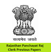 Rajasthan Panchayat Raj Clerk Previous Papers