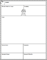 Free Lesson Plan Sheet
