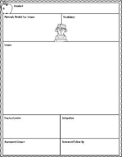Free Lesson Plan Sheet