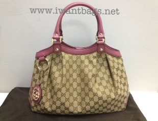 48b92879e52c I Want Bags backup: Gucci Sukey Original GG Canvas Tote- Dark Pink ...
