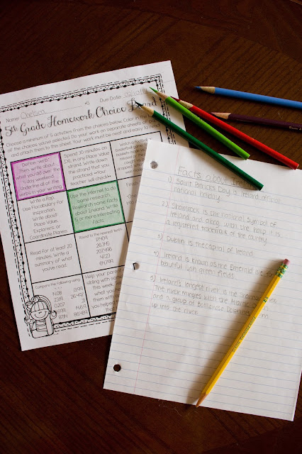 5th grade homework