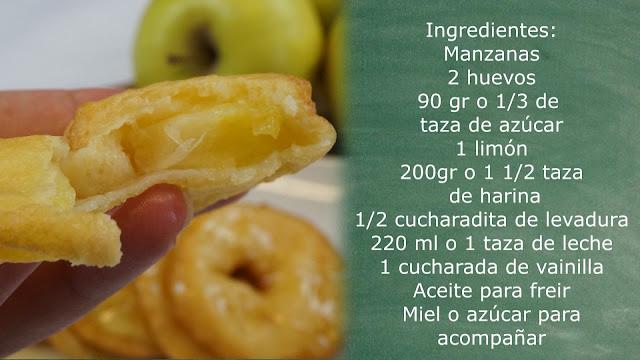 ingredientes buñuelos de manzana