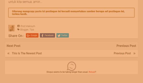 Mengatasi Related Post dan Komentar Disqus Tidak Muncul Ketika Adblock Aktif
