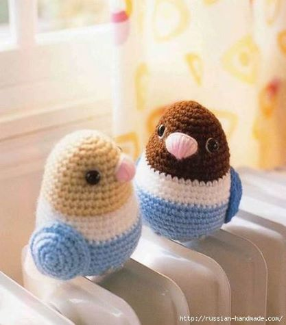Patrón #1586: Amigurumis Pajarito a Crochet