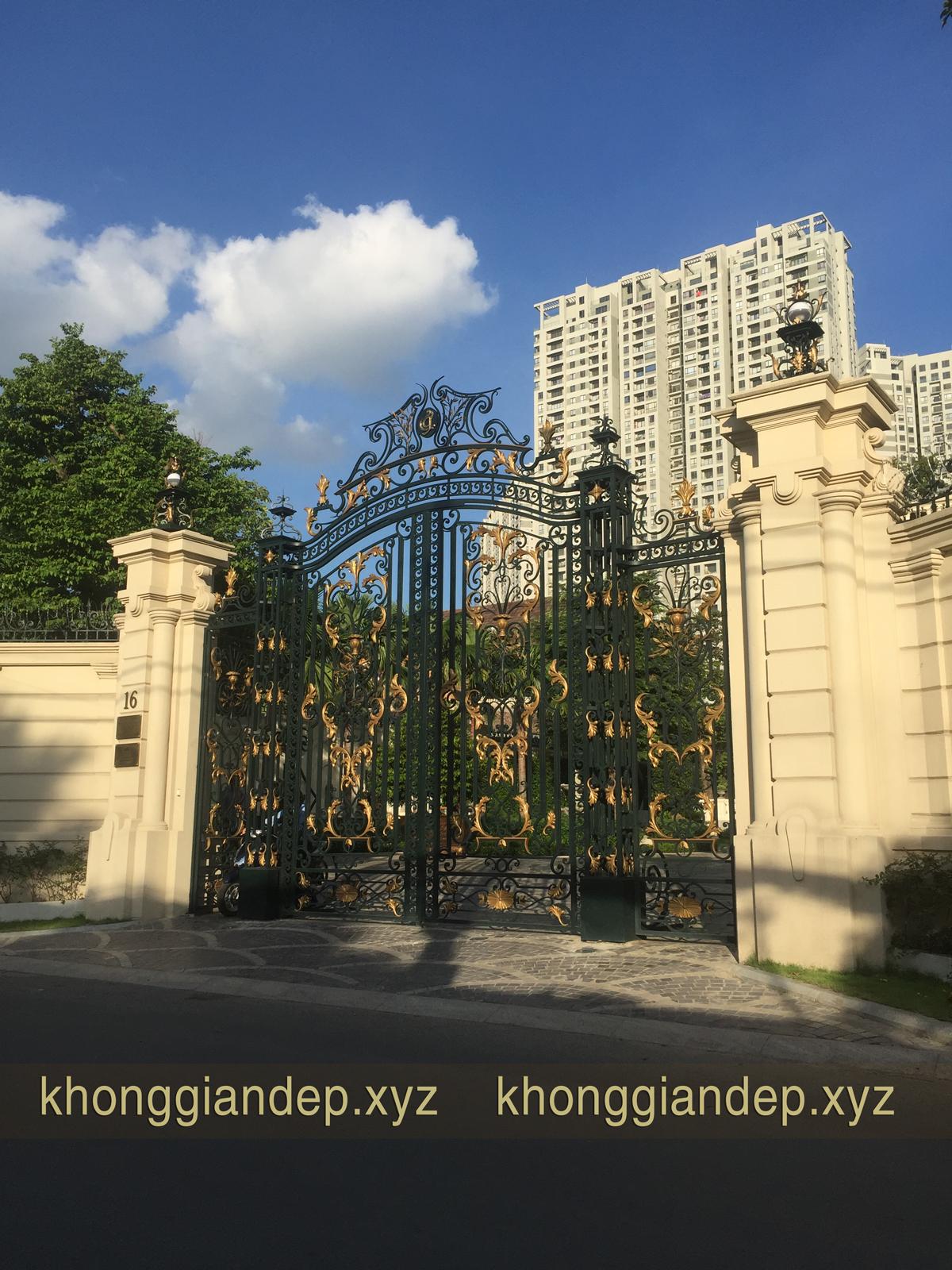 Mẫu cổng lâu đài