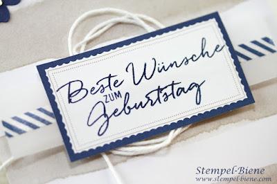 Kartenset Malerische Grüße, Maritime Geburtstagskarte, Stempel-Biene, Stampin up Recklinghausen, Stampin Up Stempelparty, Sonderangebote Stampin Up
