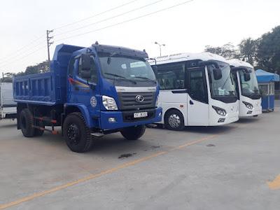Xe ben Trường Hải 9.1 tấn Thaco FD9500 sản phẩm có thiết kế bửng mở rất thích hợp cho chở vật liệu xây dựng