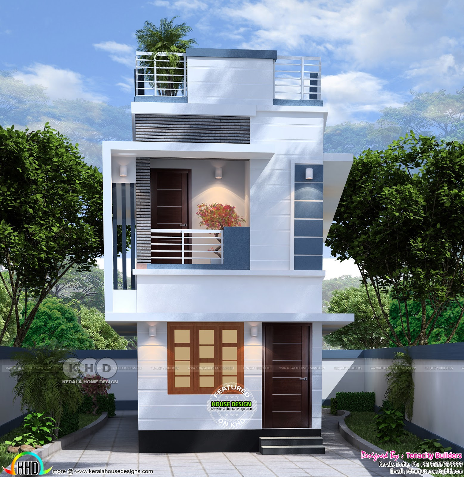 Tiny Low Cost India Home Design Kerala Home Design And