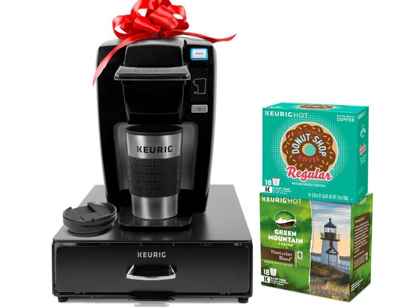 12 Cup Coffee Maker Is How Many Ounces : Keurig K15 Single Serve Coffee Maker Holiday Bundle with 36 K-Cup Pods, 12 Oz. Travel Mug and 35 ...
