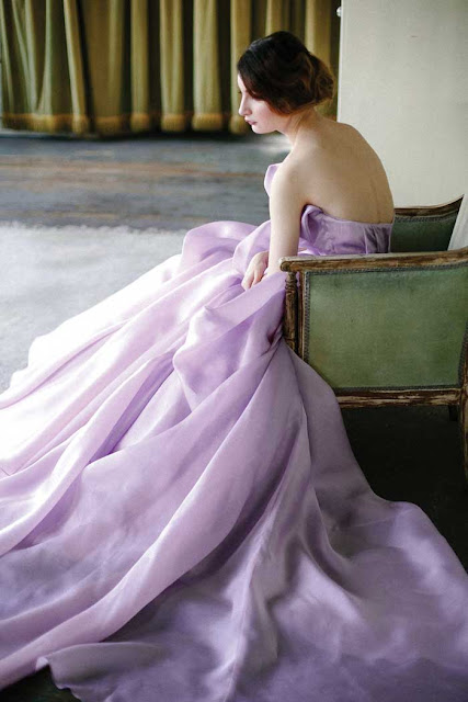 modern wedding gowns orchid | Images of inspiration in Lavender, Lilac and Mauve