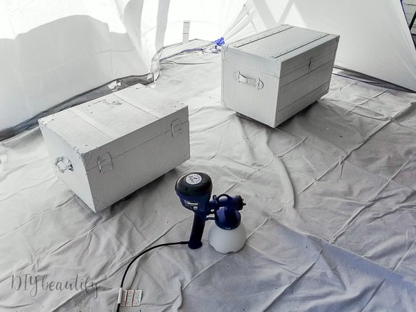 use a paint sprayer for fast results