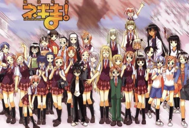 Anime Magic School Romance Terbaik - Mahou Sensei Negima!