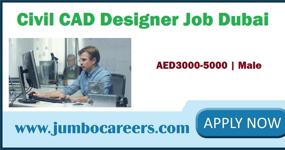 civil cad designer job dubai with salary aed3000
