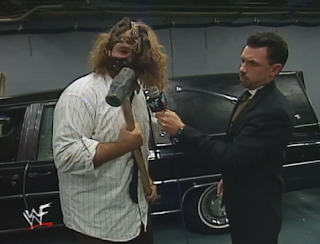WWE / WWF Summerslam 1998 - Michael Cole interviews Mankind