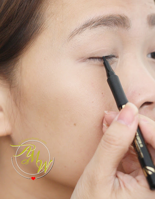 a photo of Max Factor X called the Masterpiece High Precision Liquid Liner review in velvet black
