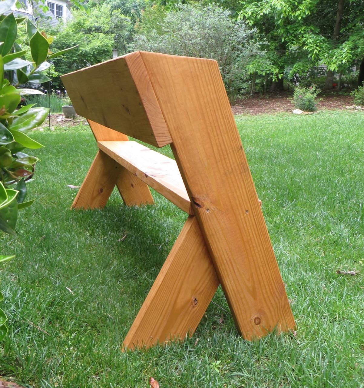 Simple Outdoor Kitchens: DIY Tutorial - $16 Simple Outdoor Wood Bench