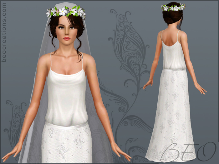 My Sims 3 Blog: Romantic Wedding Gown And Veil By BEO