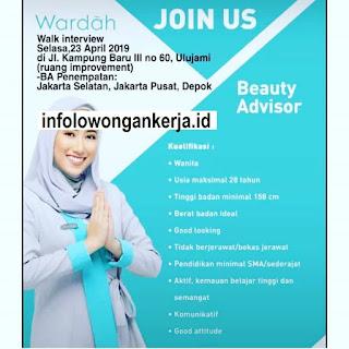 Info Lowongan Kerja Wardah Beauty Advisor Jakarta Pusat