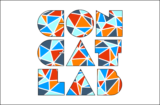 Concat Lab text with Delaunay triangulation fill colors